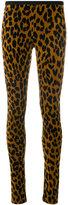 Odeeh leopard print skinny trousers - women - Cotton/Polyamide/Viscose - 36