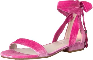 Kenneth Cole New York Women's Valen Strappy Sandal with Ankle WRAP Tassel Velvet