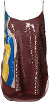 Emilio Pucci sequin embellished cami top