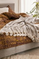 Urban Outfitters Pyper Pom Pom Throw Blanket