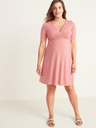 Old Navy Maternity Faux-Wrap Jersey Dress