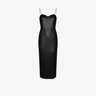 ANOUKI Marilyn vegan leather midi dress