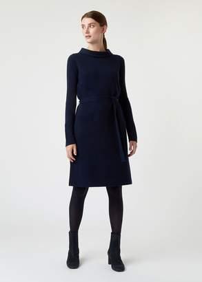 Hobbs Audrey Wool Cashmere Blend Knitted Dress