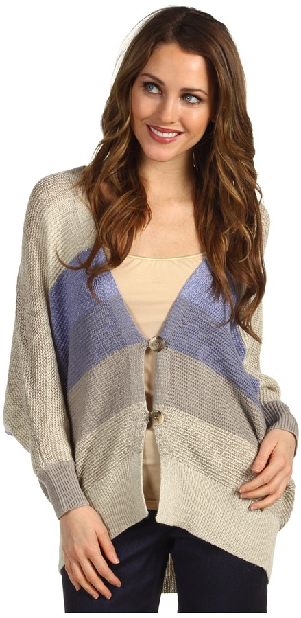 Calvin Klein Jeans Striped Cocoon Cardigan Women's Sweater