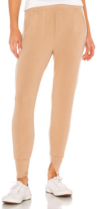 Enza Costa Peached Jersey Split Cuff Jogger