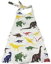 Urban Smalls White Dinosaur Halter Dress - Toddler & Girls