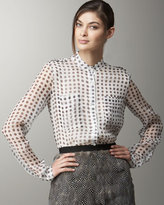JASON WU Polka-Dotted Chiffon Top