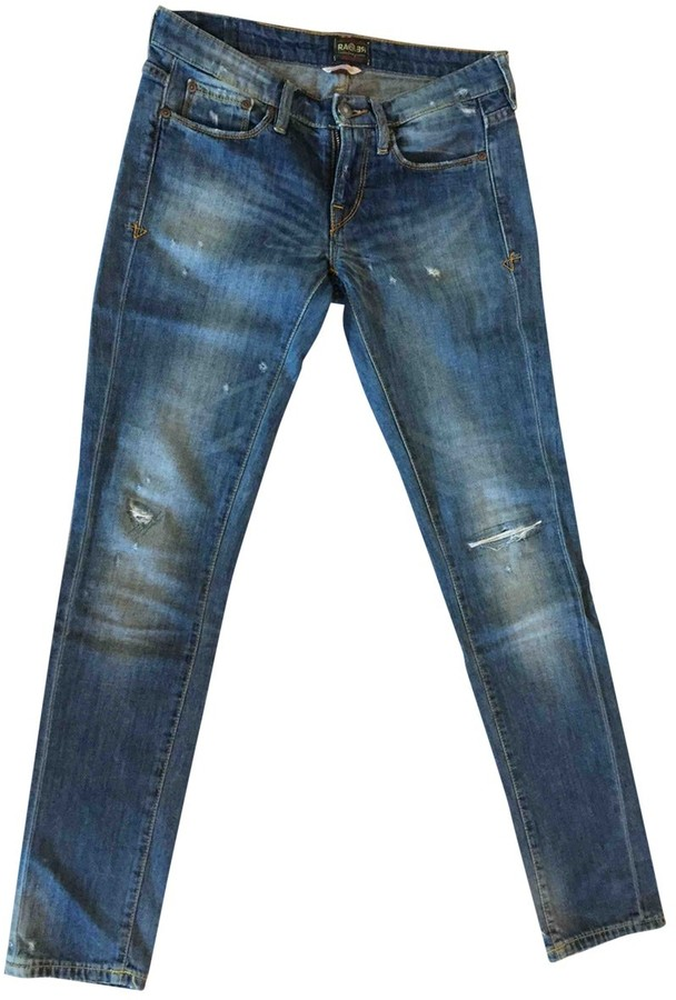 Rare Blue Cotton - elasthane Jeans for Women