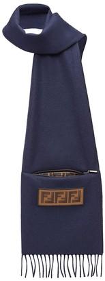 Fendi Logo Patch Scarf