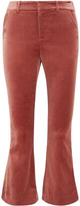 Frame Cropped Cotton-blend Velvet Bootcut Pants