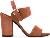 Stuart Weitzman block heel sandals - women - Leather/Suede - 36.5