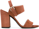 Stuart Weitzman block heel sandals - women - Leather/Suede - 36