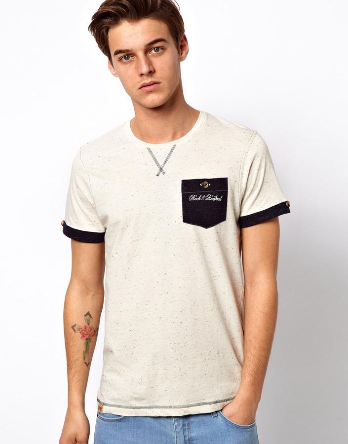 Rock Revival Rock & Revival T-Shirt With Contrast Pocket