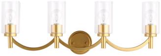 EGLO Devora 4-Light Bathroom Vanity Fixture, Antique Gold