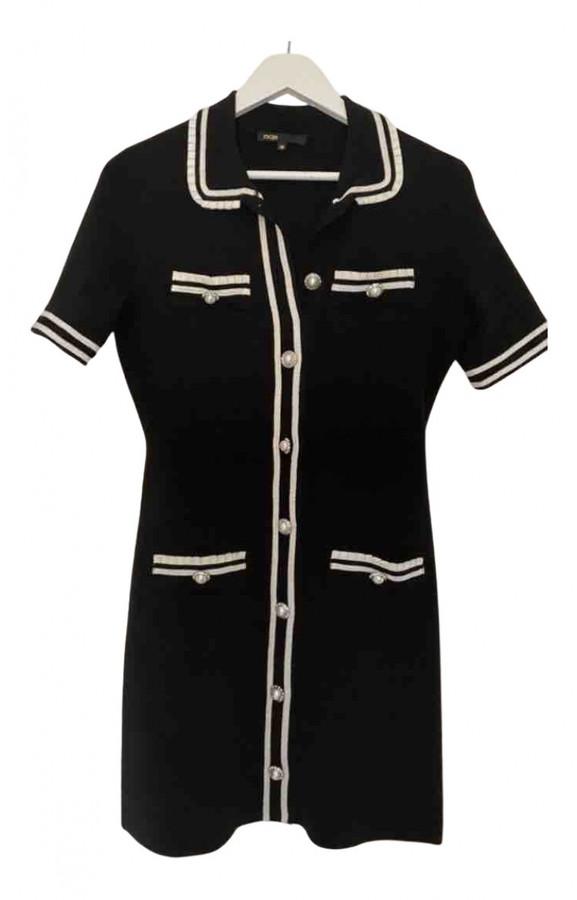 Maje Spring Summer 2020 Black Wool Dresses