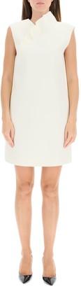 MSGM Ruffle-Detailed Sleeveless Shift Dress