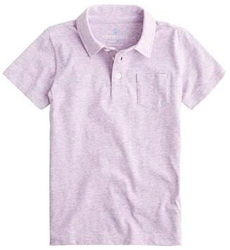 crewcuts by J.Crew Short Sleeve Galaxy Polo Shirt (Toddler/Little Kids/Big Kids) (Purple Heather) Boy's Clothing