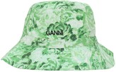 Ganni Printed Cotton Poplin Bucket Hat