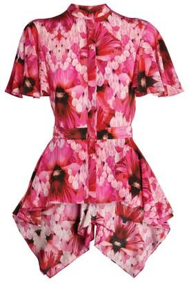 Alexander McQueen Floral Silk Shirt