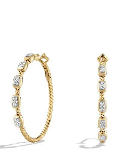 David Yurman Confetti Diamond Hoop Earrings