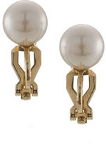 Carolee The Naomi White Faux Pearl Stud Clip On Earrings