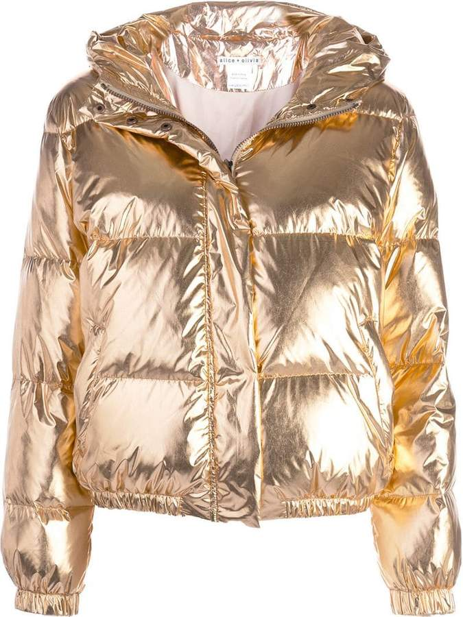 Alice+Olivia hooded puffer jacket