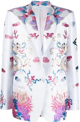 ATTICO Multicolored Print Blazer Jacket