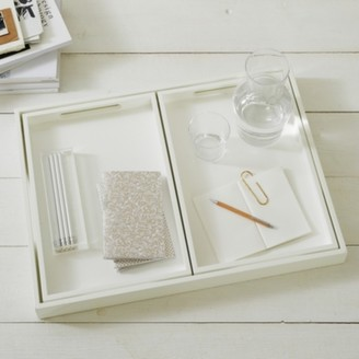 The White Company White Lacquer Trays Set of 3, White, One Size