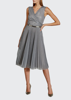 Ralph Lauren Collection Maegan Sleeveless Metallic Cocktail Dress
