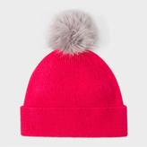Paul Smith Women's Raspberry Pink Lambswool Bobble Hat