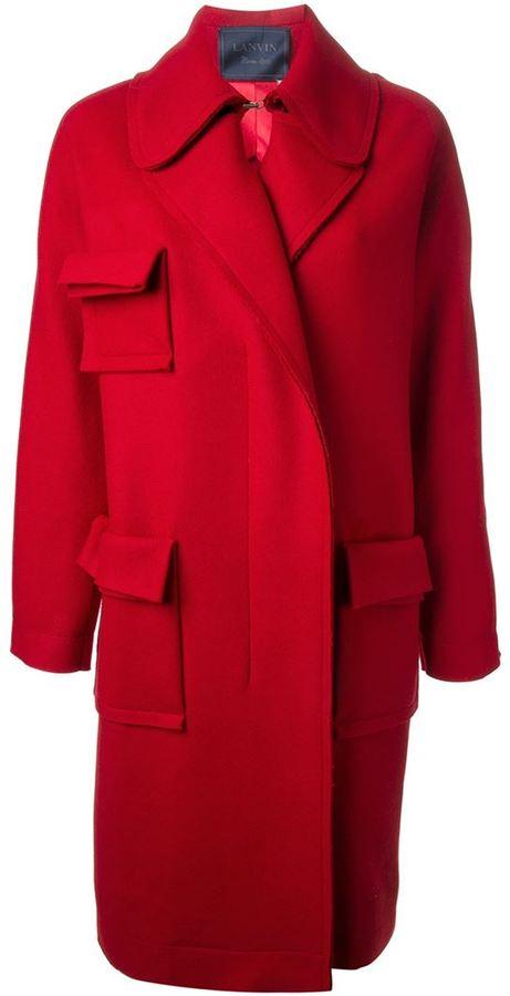 Lanvin pocket overcoat