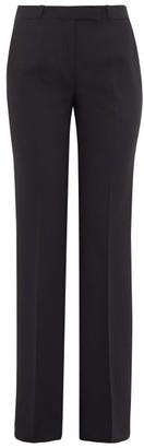 Etro Fuji Stretch-wool Trousers - Womens - Black
