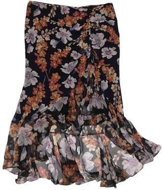 Galliano Navy Silk Skirts