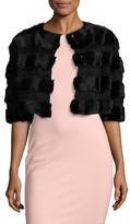 RED Valentino Fur Paneled Crop Jacket