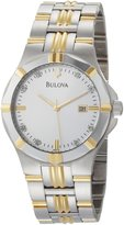 Bulova Men's 98D115 Diamond Silver Dial Watch