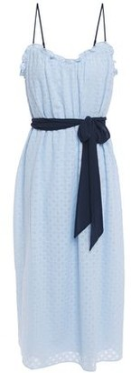 Joie Talei Belted Broderie Anglaise Voile Midi Dress