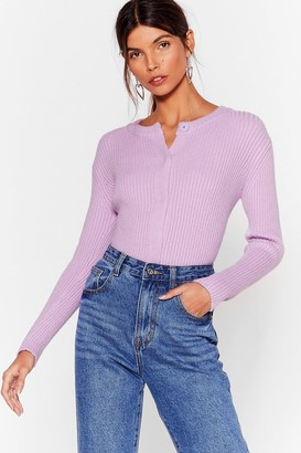 Nasty Gal Womens Cardi-gone Home Button-Down Cardigan - Lilac