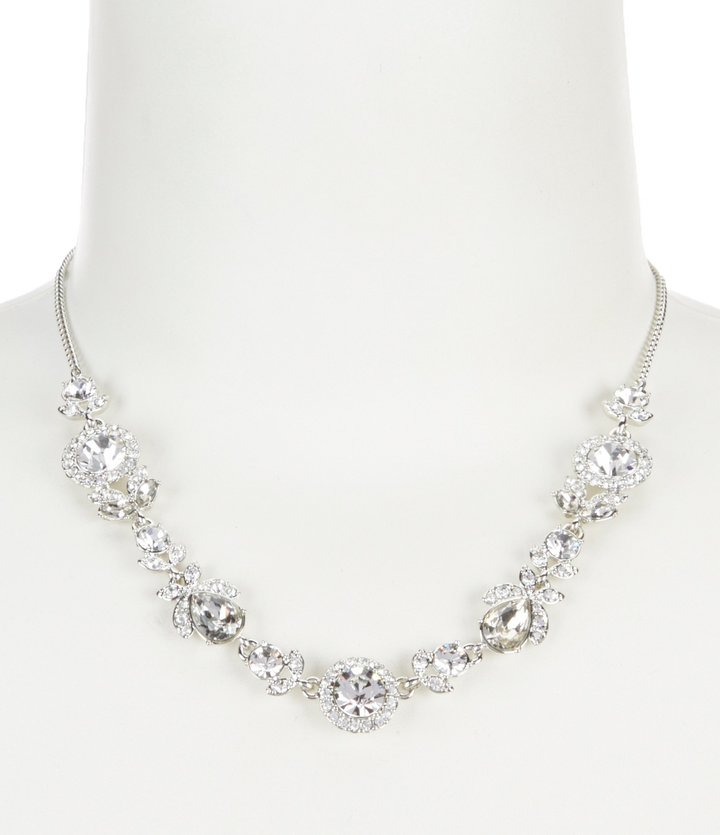 Givenchy Cubic Zirconia Frontal Necklace