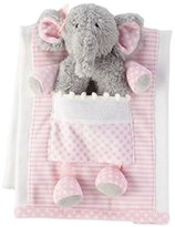 Mud Pie Elephant Burp Cloth with Rattle by