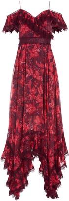 Alice + Olivia Harper Cold Shoulder Maxi Dress