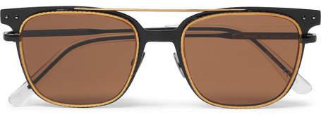 Bottega Veneta Square-Frame Metal Sunglasses