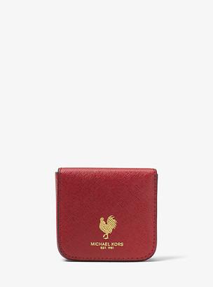 Michael Kors Harrison Lunar New Year Leather Envelope Card Case