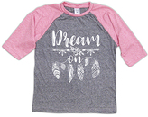 Urban Smalls Heather Gray & Pink 'Dream On' Raglan Tee - Toddler & Girls