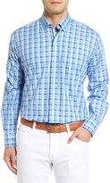 Tailorbyrd Men's Inkberry Regular Fit Plaid Sport Shirt