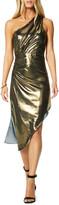 Ramy Brook Susanna Metallic One-Shoulder Asymmetrical Dress