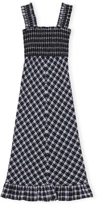 Ganni Black Seersucker F4958 Dress - 38