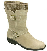 David Tate Sweater-Trimmed Leather Boots - Bright