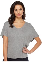 Heather Rib Shirttail Tee Women's T Shirt