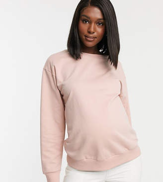 Asos DESIGN Maternity organic cotton sweat in pink