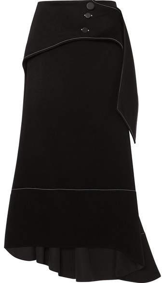 Ellery Yale Crepe Midi Skirt - Black